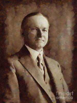Calvin Painting - Calvin Coolidge, President United States By Sarah Kirk by Sarah Kirk