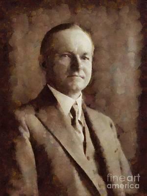Calvin Coolidge, President United States By Sarah Kirk Art Print