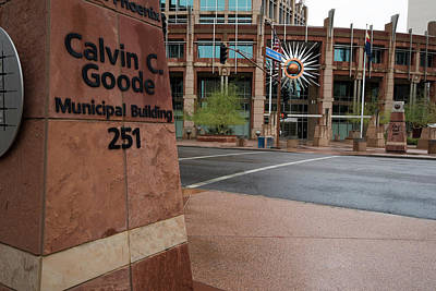 Photograph - Calvin Goode Municipal Building Phoenix Az by Dave Dilli