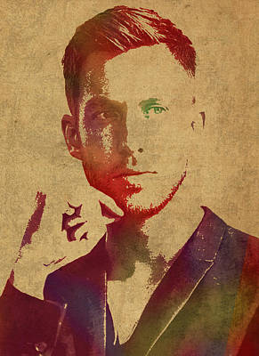 Calvin Mixed Media - Calvin Harris Watercolor Portrait by Design Turnpike