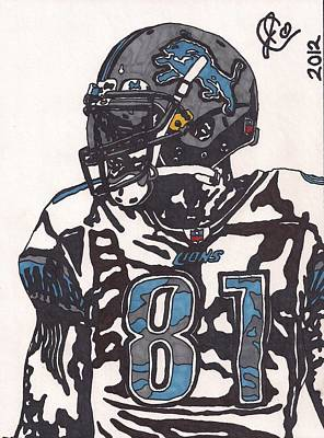 Calvin Johnson Jr 3 Art Print