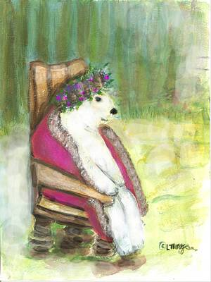Painting - Calvin On His Throne by Laurie Morgan