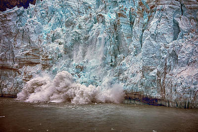 Photograph - Calving Glacier by Hugh Smith