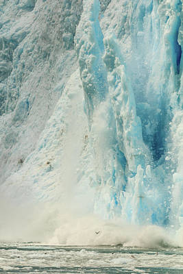 Photograph - Calving Glacier In Kenai Fjord National Park by Joni Eskridge