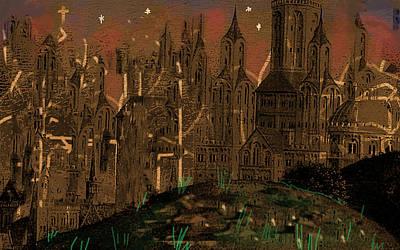 Desert Digital Art - Calvino's Night...after Van Eyck by Paul Sutcliffe