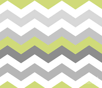 Calyx Chevron Pattern Art Print by Mindy Sommers