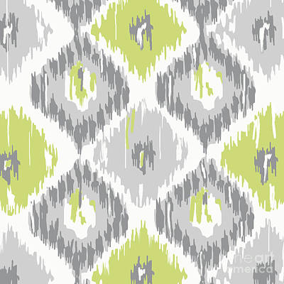 Calyx Ikat Pattern Art Print by Mindy Sommers