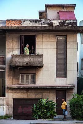 Photograph - Calzada House Havana Cuba by Charles Harden