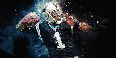 Cam Newton Digital Art - Cam Newton  by Afterdarkness