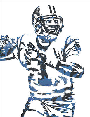 Newton Mixed Media - Cam Newton Carolina Panthers Pixel Art 11 by Joe Hamilton