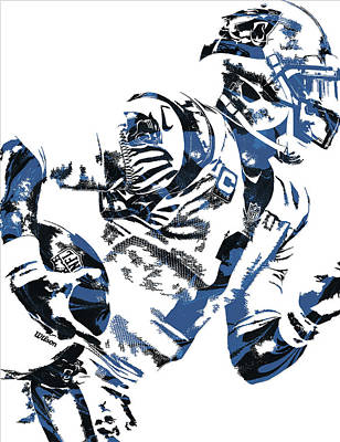 Panther Mixed Media - Cam Newton Carolina Panthers Pixel Art 4 by Joe Hamilton