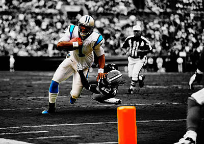 Newton Mixed Media - Cam Newton Eye On The Prize by Brian Reaves