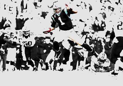 Tebow Mixed Media - Cam Newton Shake And Bake by Brian Reaves