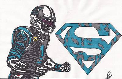 Cam Newton Superman Edition Art Print