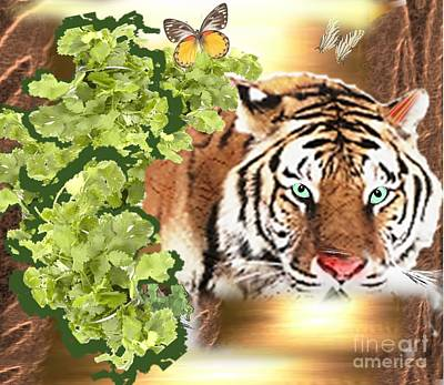 Painting - Jungle Siberian Tiger by Belinda Threeths