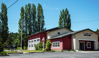 Photograph - Camano Island Fire Station 3 by Tom Cochran