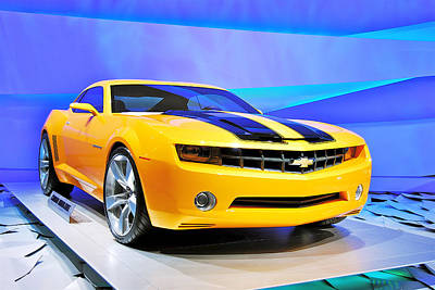 General Concept Photograph - Camaro Bumble Bee 0993 by Michael Peychich