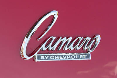 Garage Photograph - Camaro Emblem By Chevrolet by J Darrell Hutto