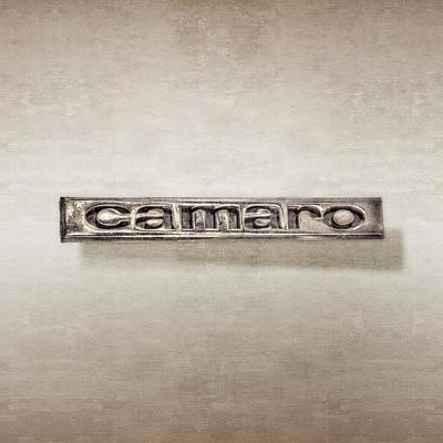 Photograph - Camaro Emblem by YoPedro