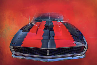 Photograph - Camaro - Forged By Fire by Theresa Tahara