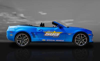 2013 Chevy Camaro Hot Wheels Pace Car  -  Cam3 Art Print