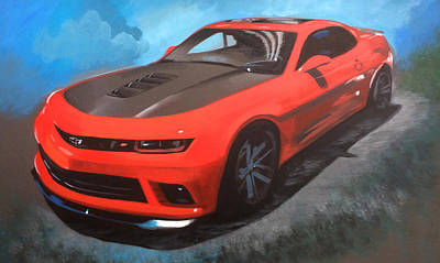 Painting - Camaro by Robert Korhonen