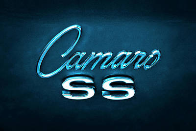 Photograph - Camaro S S Emblem by Mike McGlothlen