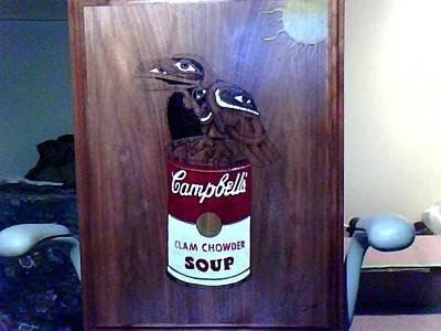 David Gray Pyrography - Cambels Soup Bird by David Gray