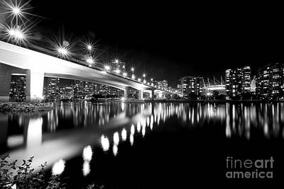 Photograph - Cambie Street Bridge Monochrome by Terry Elniski