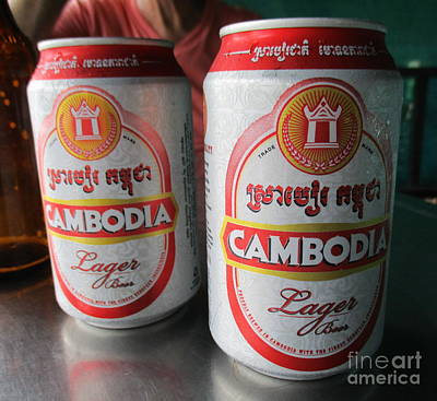 Photograph - Cambodia Beer by Randall Weidner
