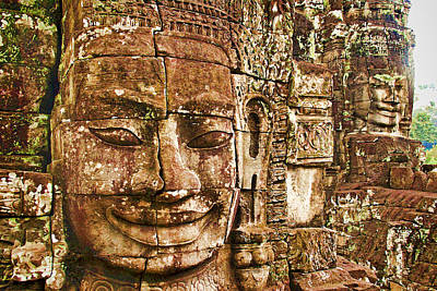 Cambodia Faces  Art Print by Dennis Cox WorldViews