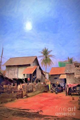 Photograph - Cambodia Farm by Rick Bragan