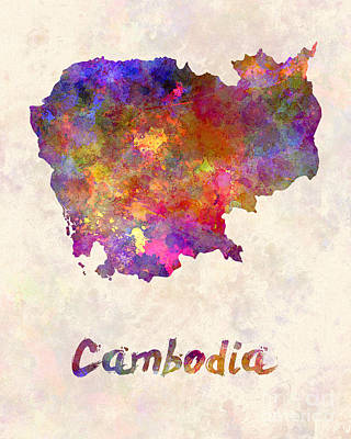 Cambodian Painting - Cambodia In Watercolor by Pablo Romero