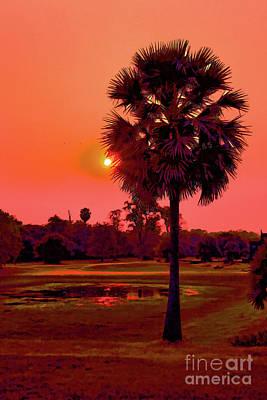Photograph - Cambodia Sunset by Rick Bragan