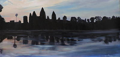 Painting - Cambodia Temples by Betty Pimm