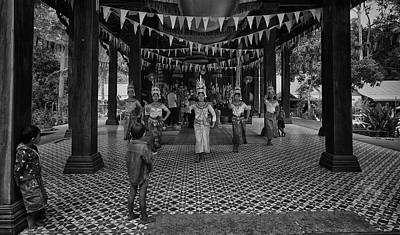 Photograph - Cambodian Apsara Dancers by David Longstreath