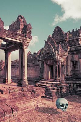 Cambodian Blue Art Print by Joseph Westrupp