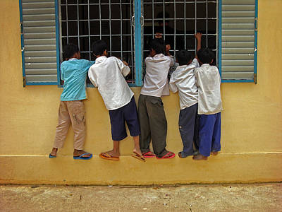 Photograph - Cambodian School Children by Dusty Wynne