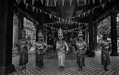 Photograph - Cambodian Temple Dancers by David Longstreath