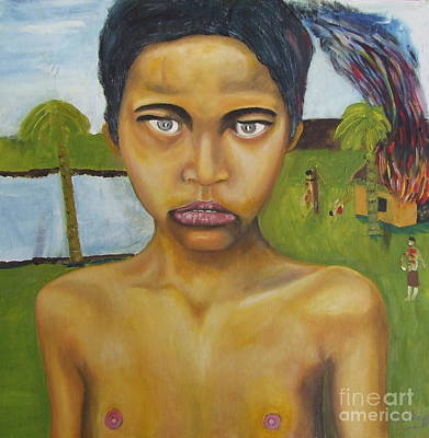 Terrorist Painting - Cambodian Terror by Neil Trapp