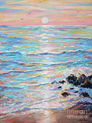 Painting - Cambria Sunset by Linda Olsen