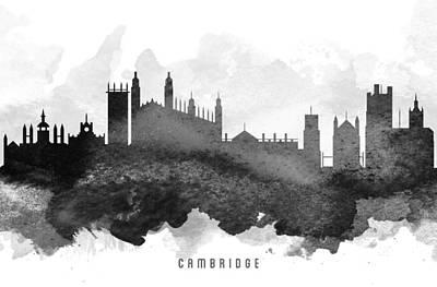 Cambridge Painting - Cambridge Cityscape 11 by Aged Pixel