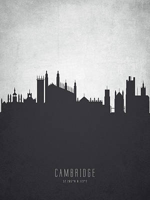 Cambridge Painting - Cambridge England Cityscape 19 by Aged Pixel