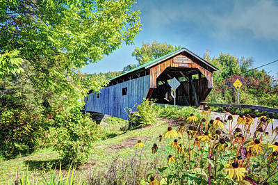 Photograph - Cambridge Junction Bridge, Vermont by Deborah Klubertanz