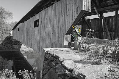 Photograph - Cambridge Junction Covered Bridge  by Deborah Klubertanz