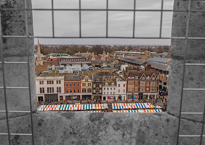 Photograph - Cambridge Market From Above by David Warrington