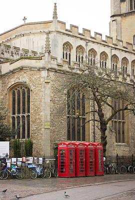 Photograph - Cambridge Phone-box by David Warrington
