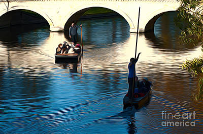 Photograph - Cambridge Punting by Andrew Michael