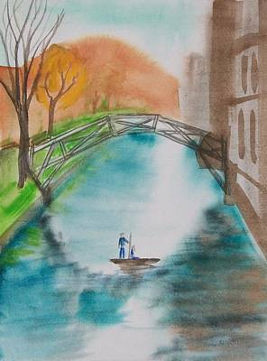 Cambridge River View Art Print by Leo Boucher