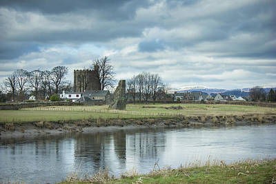 Cambuskenneth Abbey And The River Forth Art Print